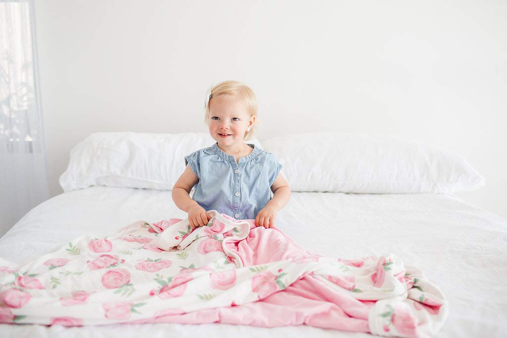 Large Premium Knit Baby 3 Layer Stretchy Quilt Blanket''Grace'' by Copper Pearl by Copper Pearl (Image #2)