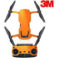 SopiGuard 3M Gloss Bright Orange Precision Edge-to-Edge Coverage Vinyl Sticker Skin Controller 3 x Battery Wraps for DJI Mavic Air