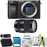 Sony Alpha a6300 Mirrorless Digital Camera with 16-50mm Lens + Sony E-Mount 55-210mm F 4.5-6.3 Lens + Starter Accessory Bundle - International Version