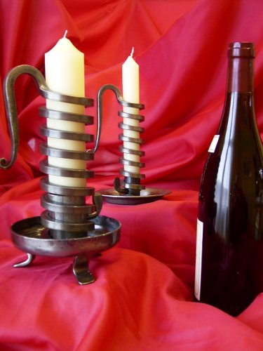 ''Rat De Cave'' (Cellar Rat) Hand Made Iron Candle Holder with Candle - Large Model
