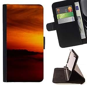 For Samsung Galaxy S4 IV I9500 Case , Sunset Beautiful Nature 79- la tarjeta de Crédito Slots PU Funda de cuero Monedero caso cubierta de piel