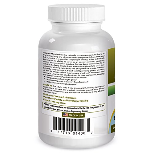 Best Naturals Creatine 1000 mg 240 Tablets