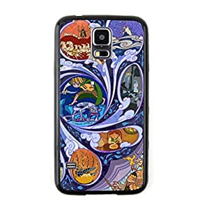 New - Pattern11 Lord of the Rings Movie Plot Cartoon Embossed Design Black Bumper Plastic+TPU Case Cover for Samsung Galaxy S5
