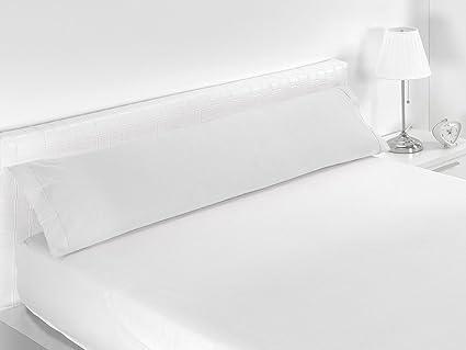 Sabanalia Combina - Funda de almohada (disponible en varios tamaños y colores), Cama 135 - 155 x 45, blanco