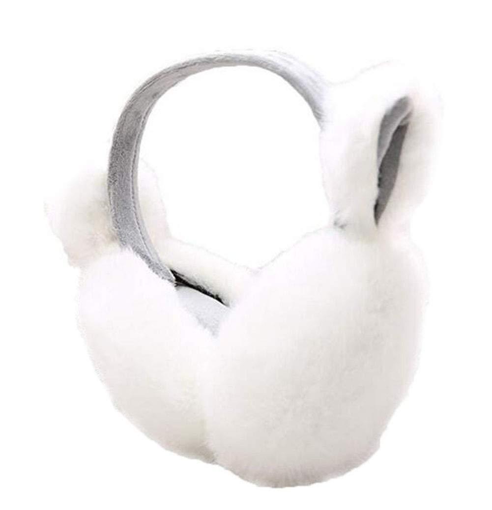 Gardening Spring Women Lovely Cartoon Winter Warmth Fuzzy Cat Ears Earmuffs (White)