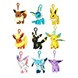 "Pokemon Eeveelution 4"" Plush Clip Set of 9"