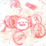 Baby shower favours: its a girl pink rock sweets favour gifts for guests 50 supplied free delivery