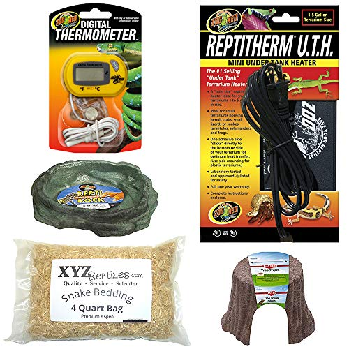 xyzReptiles Ball Python Snake Habitat 10 Gallon Terrarium Starter Kit Setup (Best Ball Python Enclosure)