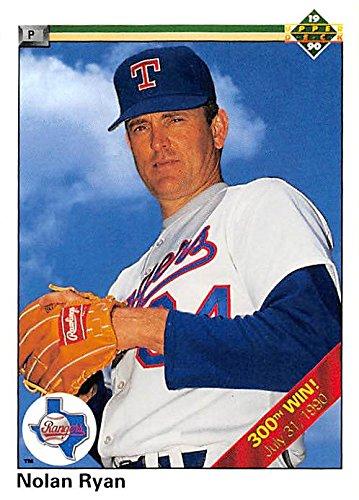 Nolan Ryan Baseball Card Texas Rangers Hall Of Fame 1990