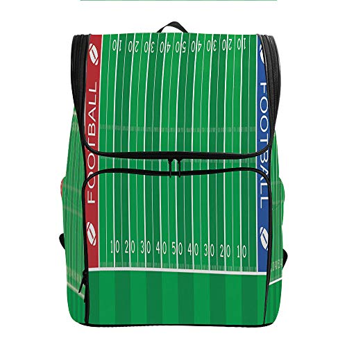 SCOCICI Large Capacity Daypack,American Football Field,Great for Hiking