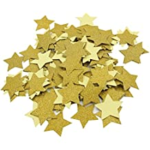 Mybbshower 1.5 inch Gold Glitter Adhesive Star Stickers for Scrapbook Party Decor Pack of 200