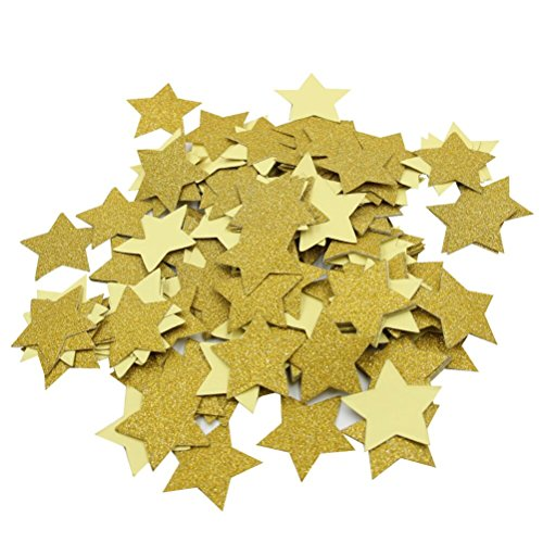 - Mybbshower 1.5 inch Gold Glitter Adhesive Star Stickers for Scrapbook Party Decor Pack of 200