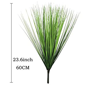 """Artificial Plants Fake Wheat Grass Plant Faux Stems Greenery Ferns for Outdoor Indoor Floral Wedding Decor 23.6"""" 2"""