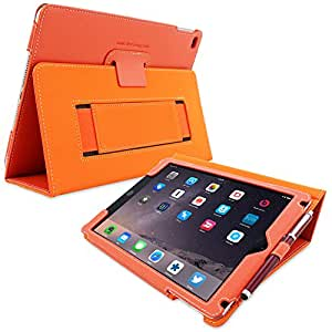 Snugg Leather Flip Stand Case for Apple iPad 3 and 4 - Orange