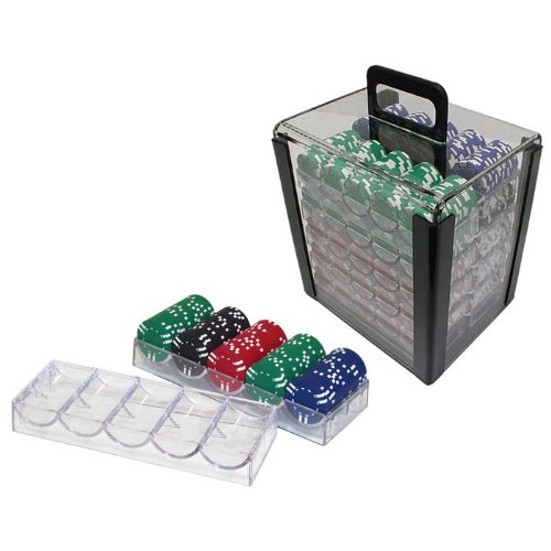 Chip Capacity Clear Acrylic - Trademark Poker 1000 Chip Capacity Clear Carrier