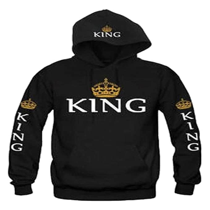 lome123 Unisex Casual Hooded Neck Long Sleeve Letter Print Front Pocket Hoodie Sweater at Amazon Womens Clothing store: