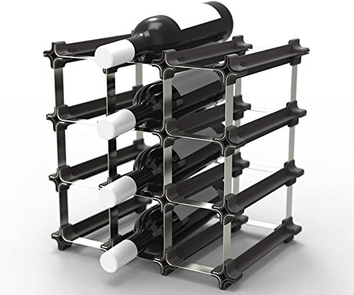 9 NOOK Wine Rack - Easy 2 Step Assembly - No Hardware Required - Capacity: 12 Bottles by Wine Racks America
