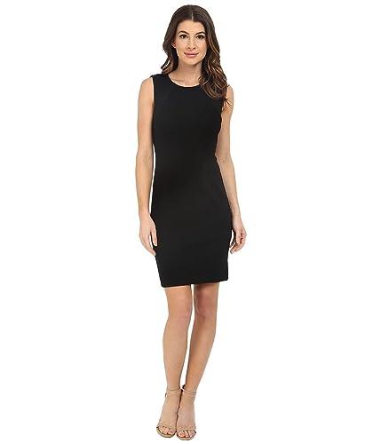 Three Dots Womens Ponte Mesh Inset Wear to Work Dress