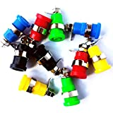 10 Pack CESS 5 Colors 4mm Speaker Banana Female Jack Socket Plug With Safety Protection
