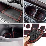 Auovo Anti-dust Door Mats for 2018 2019 2020 Subaru Crosstrek and Impreza Gate Door Liners Inserts Cup Console Mats Interior Accessories (Pack of 14) (Red)