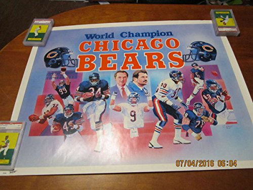 1986 World champion Chicago Bears Walter Payton Mike ditka poster 1g by P&R publications