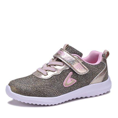 Dream Seek Girls Light Weight Sport Running Walking Shoes 3880K Rose-Gold 12