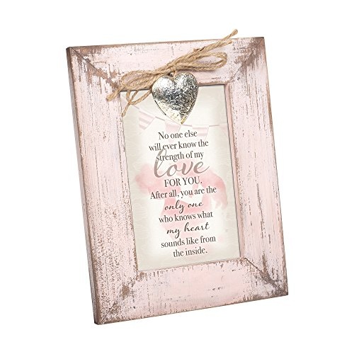 Cottage Garden Who Knows My Heart from Inside Blush Pink Distressed Locket Easel Back Picture Frame