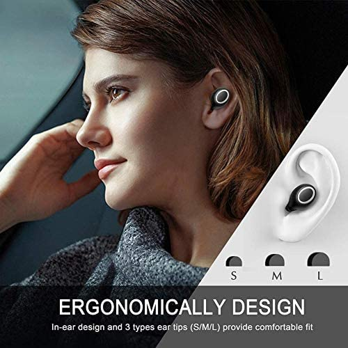 XY-M Bluetooth Earbuds Bluetooth Earphones,Deep Bass Stereo Wireless Earbuds,In-Ear Wireless Headphones,Touch Control Auto Pairing Earphones,With Charging Case