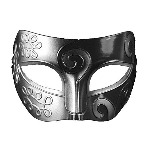 ECOSCO Retro Greek Roman Gladiator Halloween Party Mask Man Woman Children Mardi Gras Masquerade Fancy Dress Mask (Halloween Gladiator Accessories)