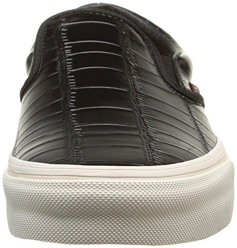 8d48602ea1 lovely Vans Unisex Croc Leather Slip-On Skateboarding Shoes-Black-10-Women