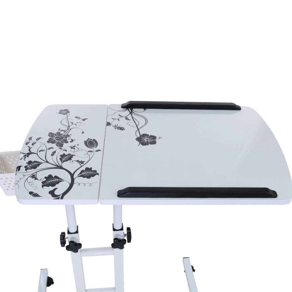 Computer Table Fashion Folding Lift Rotating Bedside Mobile Laptop Desk 17.32inch×15.75inch, Shipped from US by JPOQW (Image #4)