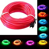 10M EL Led Flexible Soft Tube Wire Neon Glow Car Rope Strip Light Xmas Decor DC 12V (Color Yellow)