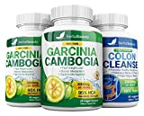 Garcinia Cambogia Extract & Colon Cleanser- 95% HCA 3000mg Capsules – Quick Cleanse to Support Detox, Weight Loss & Increased Energy Levels – 3 Pack Bundle For Sale