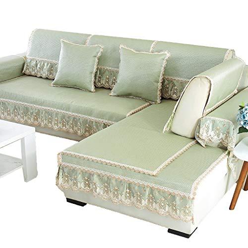 GDSFT Sofa Covers, Summer Sofa Cushion Cool Mat Living Room Universal Cushion Ice Silk Rattan mat Non-Slip Sofa Cover Settee Pet Dog Protector (Size : 6090CM(2335in))