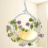 Pastoral flowers chandeliers bedroom balcony floating window porch light flower basket children Princess chandeliers lu1251016py