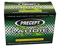 The Precept Laddie X generates hot distance off the driver with high launch and low spin, producing a penetrating flight with a 372 wind-cheating dimple design. A combination of Enhanced Muscle-Fiber Core and Touch N' Control cover provides s...