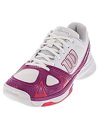 Wilson women`s Rush Evo Tennis Shoes White/Pink
