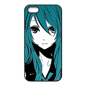 Green hair lovely girl Cell Phone Case for iPhone 5S