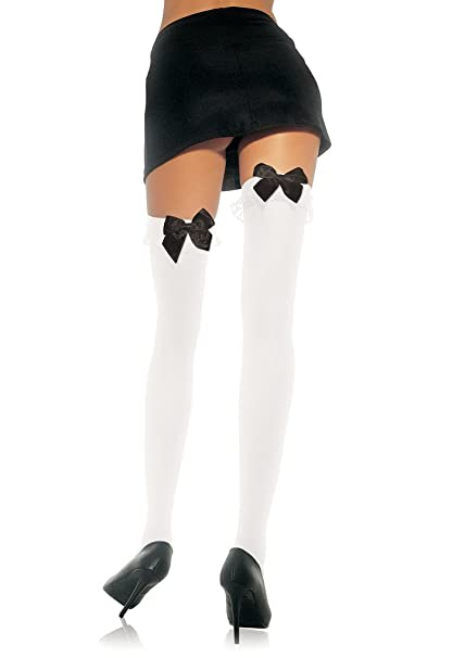 22923c746f58d Image Unavailable. Image not available for. Color: Leg Avenue Women's  Opaque Thigh High ...