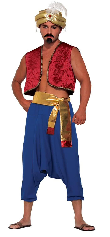 Genie Vest Adult Costume (Red)
