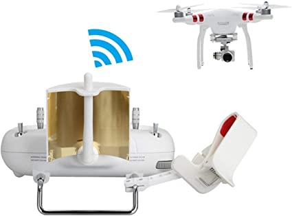 Copper Parabolic Antenna Range Booster for DJI Phantom 2//3 Standard//SE Controller Transmitter Signal Extend Gold