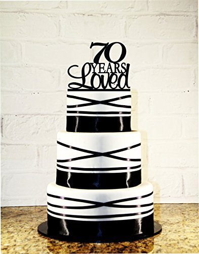 Amazoncom 70th Birthday Cake Topper 70 Years Loved Custom Handmade