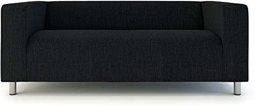 IKEA Cover for Klippan Loveseat 2-seat Sofa Slipcover Gray Yellow NEW FAST SHIP