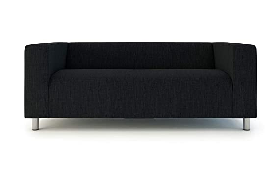 Klippan Loveseat Slipcover for The IKEA 2 Seater Klippan Loveseat Sofa Cover Replacement-Polyester Black