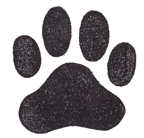 Dog Rubber Stamp - Paw Print Jumbo-1002F (Size: 2-3/4'' Wide X 2-3/4'' Tall) by DogStampsPlus.com