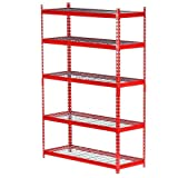 Edsal 5-Shelf Steel Storage Shelving Unit in Red | 72 in. H x 48 in. W x 18 in. D