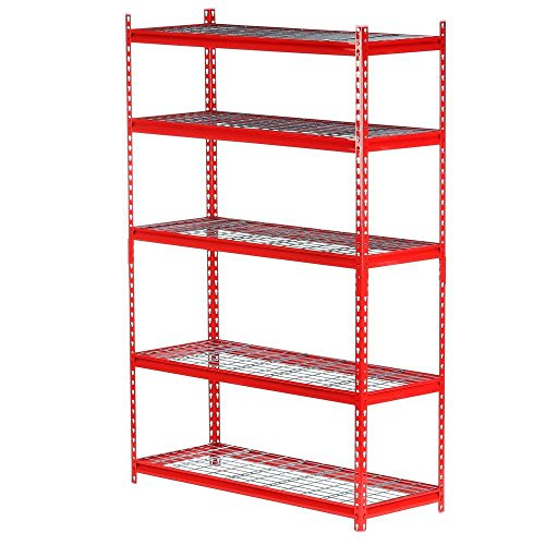 Edsal 5-Shelf Steel Storage Shelving Unit in Red | 72 in. H x 48 in. W x 18 in. D by Edsal Product