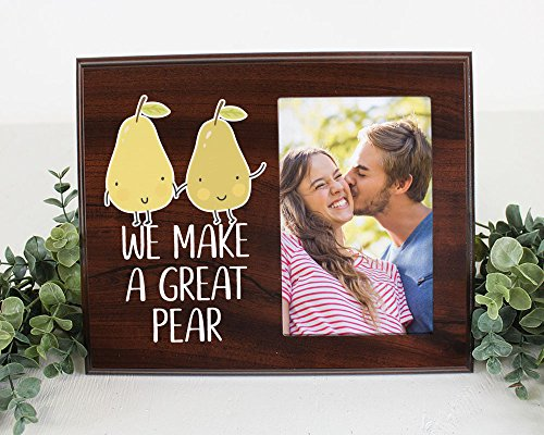 We make a great pear picture frame for cute couple