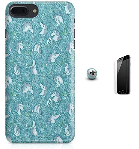 Kit Capa iPhone 7 Plus - Unicórnio + Pel Vidro B52
