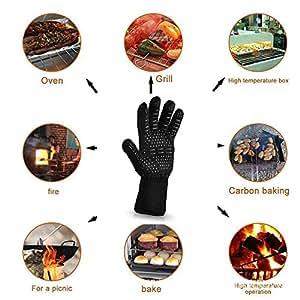 ZZM BBQ Cooking Glove 932°F guantes de horno resistente al calor extremos para fundir, parrilla, cocción